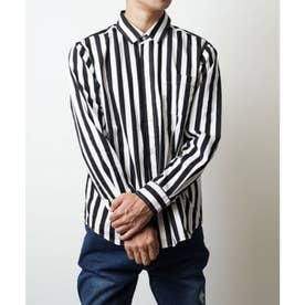 【日本製】長袖 ブロードナノファイン加工レギュラーカラーシャツ (ブラック系その他2)