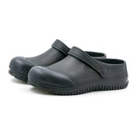 安全靴 サンダルタイプ  サンダル型 メンズ サンダル クロックス 耐滑ソール つま先樹脂カバー付 衝撃吸収 (ブラック)