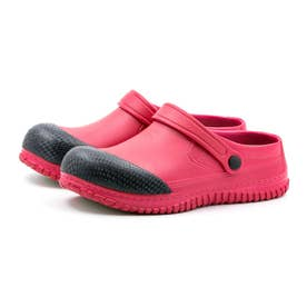 安全靴 サンダルタイプ  サンダル型 メンズ サンダル クロックス 耐滑ソール つま先樹脂カバー付 衝撃吸収 (レッド)