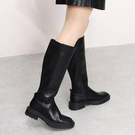 ローヒールカジュアルブーツ (ブラック)