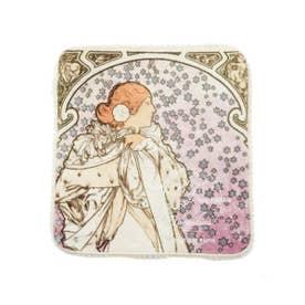 【ミュシャと椿姫】ハンドタオル (IVR)