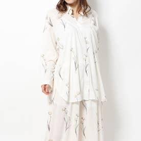 クリアフラワーシャツドレス(イエロー)
