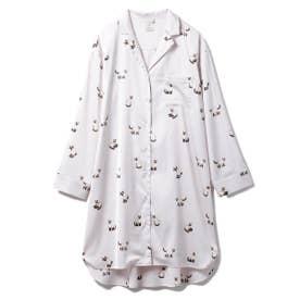 シャムネコサテンシャツドレス (PNK)