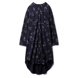 DOGモチーフシャツドレス (NVY)