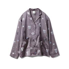 ペイントサテンシャツ (GRY)