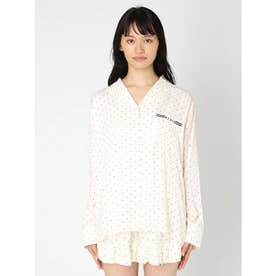 ピローモチーフサテンシャツ (OWHT)