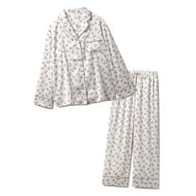 【セットアップ】リトルローズサテンシャツ&ロングパンツSET (BEG)