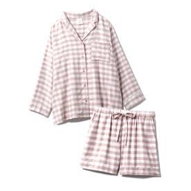 【セットアップ】ネルギンガムチェックシャツ&ショートパンツSET (PNK)