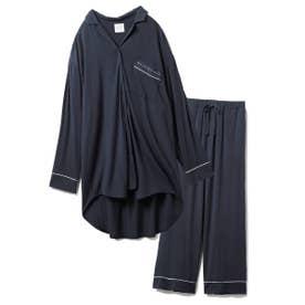 【セットアップ】モダールシャツ&ロングパンツSET (NVY)