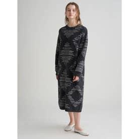 【Joel Robuchon & gelato pique】'ソフトジェラート'ドレス (BLK)
