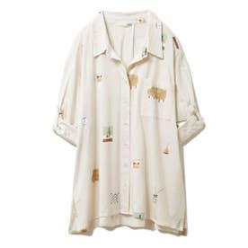 インテリアモチーフシャツ (BEG)