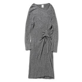 '調温スムーズィー'ブラインドリブドレス (GRY)