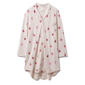 ストロベリーモチーフシャツドレス (BEG)