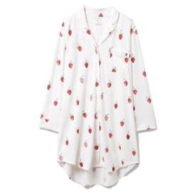 ストロベリーモチーフシャツドレス (OWHT)