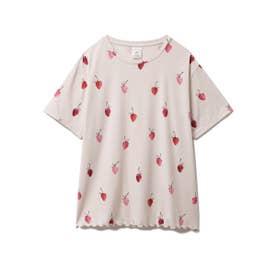 ストロベリーモチーフTシャツ (BEG)