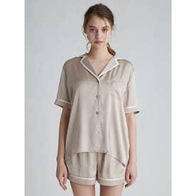 サテンラインシャツ (BEG)