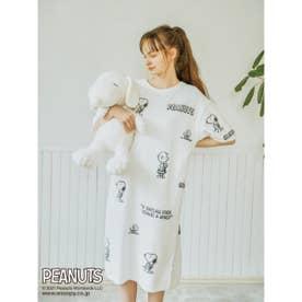 【PEANUTS】モノグラムジャガードドレス (OWHT)