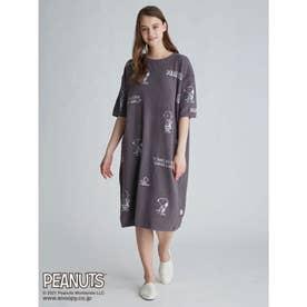 【PEANUTS】モノグラムジャガードドレス (DGRY)