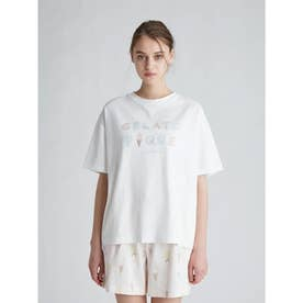 アイスクリームロゴワンポイントTシャツ (OWHT)