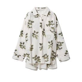 ジャスミンモチーフシャツ (BEG)
