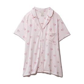 ハートモチーフシャツ (PNK)