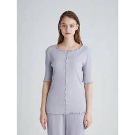 リブTシャツ (BLU)