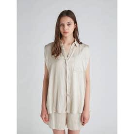 クールサテンシャツ (BEG)