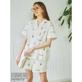 【PEANUTS】モノグラムシャツ (OWHT)
