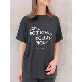 【Joel Robuchon & gelato pique】テンセルシルクロゴTシャツ (BLK)