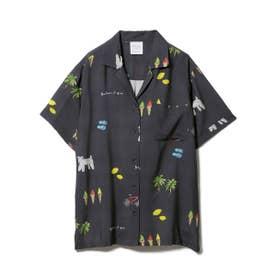 サマーモチーフシャツ (NVY)