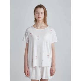 フラワーベースモチーフTシャツ (PNK)