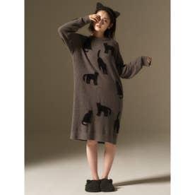 【LADIES】【Halloween限定】クロネコジャガードドレス (DGRY)