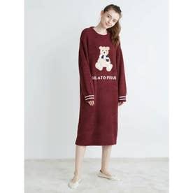 パウダーモチーフジャガードドレス (RED)