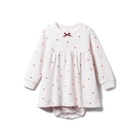 【BABY】ストロベリー baby ワッフルロンパース (PNK)