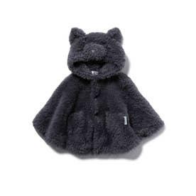 【BABY】【Halloween限定】 ネコモコ baby ポンチョ (GRY)