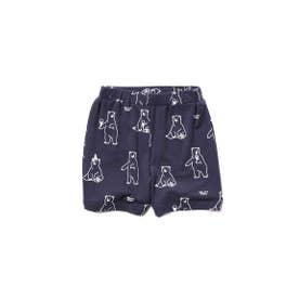 【シロクマフェア】シロクマモチーフ冷感 baby ショートパンツ (NVY)