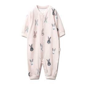 【新生児】ウサギモチーフ2wayオール (PNK)