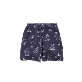 【シロクマフェア】シロクマモチーフ冷感 kids ショートパンツ (NVY)