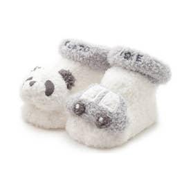 【BABY】'ベビモコ'パンダ&くるまモチーフ baby ソックス (BLU)
