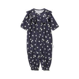 【BABY】デイジーモチーフ新生児2wayオール (NVY)