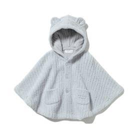 【BABY】'マシュマロモコ'リブ baby ポンチョ (BLU)