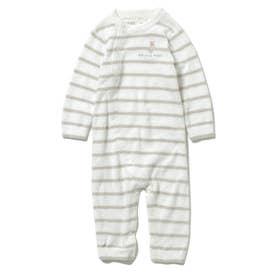 【BABY】'スムーズィー'ベア刺繍ボーダー baby ロンパース (MNT)