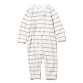【BABY】'スムーズィー'ベア刺繍ボーダー baby ロンパース (PNK)