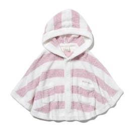 【BABY】'スムーズィー'メランジ2ボーダー baby ポンチョ (PNK)