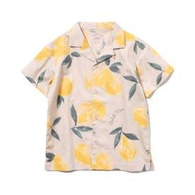 【KIDS】フルーツアロハモチーフ kids シャツ (YEL)
