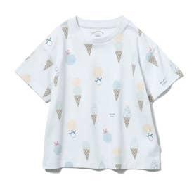 【KIDS】アイスクリームアニマルモチーフ kids Tシャツ (BLU)