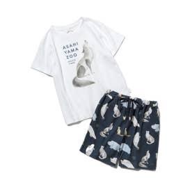 【旭山動物園】【junior】Tシャツ&ハーフパンツSET (NVY)