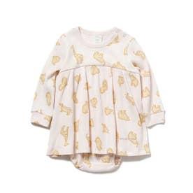 【BABY】 クッキーアニマルモチーフ baby ショートロンパース (PNK)
