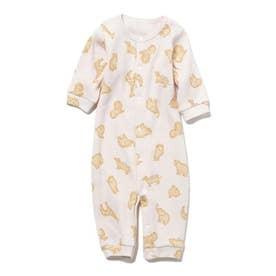 【BABY】 クッキーアニマルモチーフ新生児2wayオール (PNK)