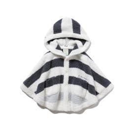 【BABY】パウダートリムボーダー baby ポンチョ (NVY)